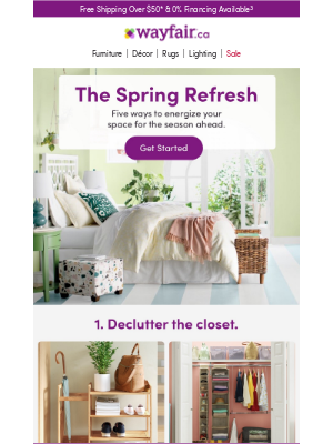 Wayfair (CA) - Organizers, bedding & more for your spring refresh →