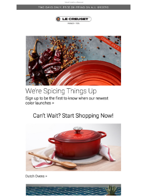 Le Creuset - We're Spicing Things Up