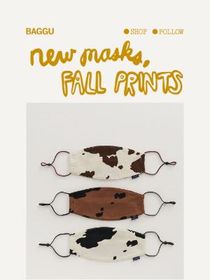 BAGGU - New Masks, Fall Prints