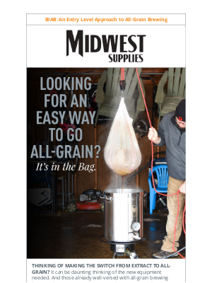 Midwest Supplies - Brew-in-A-Bag: Meet the Happy Medium
