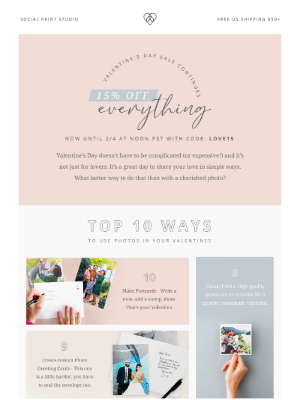 Social Print Studio - Top 10 ways to use photos in your Valentines