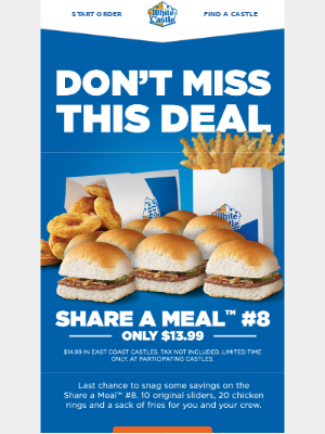 White Castle - Don't miss this deal!