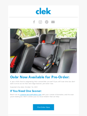 Clek - Oobr: Now Available for Pre-Order!