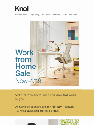 Knoll - Find the Right Work Chair During Our WFH Sale