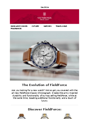 Victorinox - The Evolution of FieldForce | Explore Our New Watch Arrivals