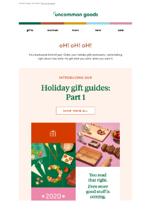 UncommonGoods - Our holiday gift guides are here! (And we're just getting started)
