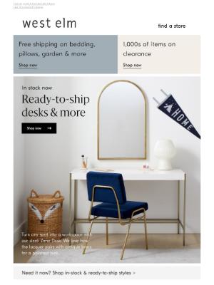 West Elm - In stock: Desks for WFH & more