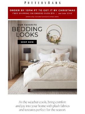 West Elm - Ends tomorrow: up to 30% off bedding