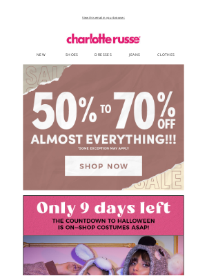 Charlotte Russe - $15 Hallow-ONESIE's Babe! 😈🎃