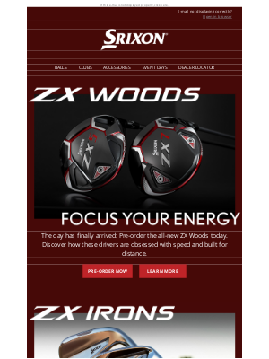 Srixon - Pre-Order Now | Srixon ZX Woods and Irons