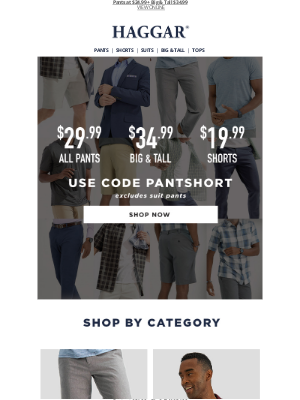 Haggar Clothing Co. - Sale Ends Tonight: Shorts $19.99!!