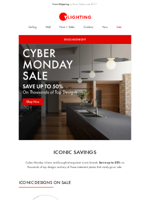 YLighting - Cyber Monday has arrived!