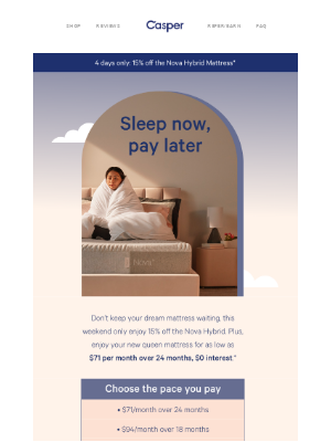 Pay $0 today for our newest, plushest mattress.