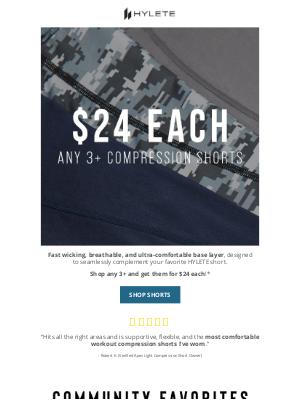 HYLETE LLC - $24 Compression Short