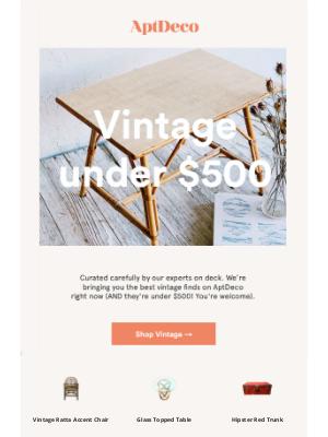 AptDeco - Under $500 on unique vintage finds
