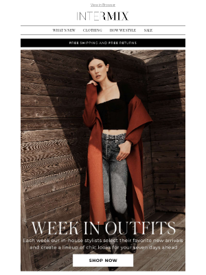 INTERMIX Designer Clothing - Your Week In Outfits Is Here