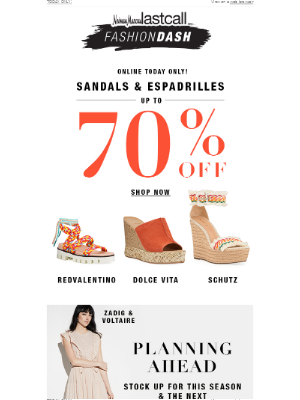 Neiman Marcus Last Call - FASHION DASH: Up to 70% off sandals & espadrilles