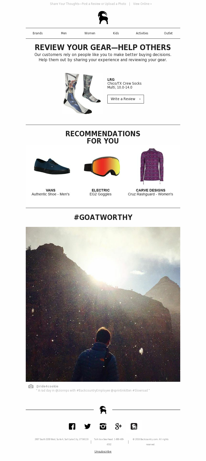 Backcountry - Review Your New Gear