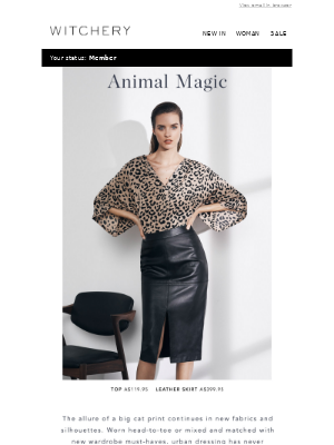 A powerful animal print meets new silhouettes