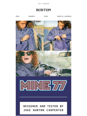 Carry it all with this mine77 anorak