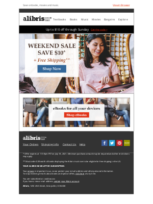 Alibris - $10 Coupon + Free Shipping this weekend, Victoria