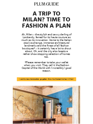 Start the year in style. Take a trip to Milan.