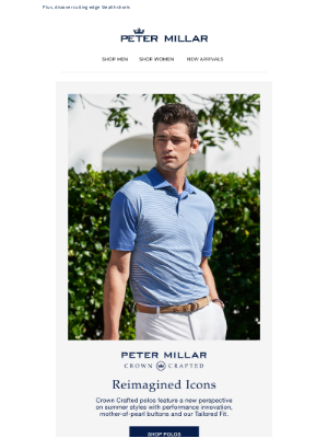 Peter Millar - Crown Crafted: Performance Polos, Reimagined