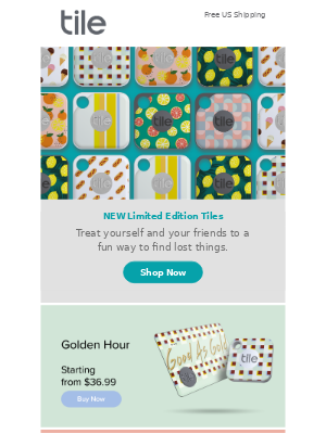 Tile, Inc - All-new Limited Edition Tiles