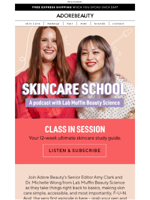 Adore Beauty (AU) - Skincare school | Class in session!
