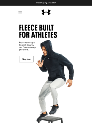 Under Armour - Fleece that keeps up with every workout