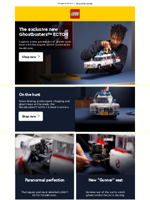 LEGO (UK) - The new exclusive Ghostbusters™ ECTO-1 is here.
