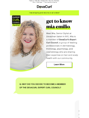 DevaCurl - Get to know Mia Emilio!