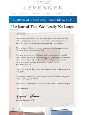 Levenger - The Tale of the 5-Year Journal.