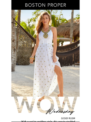 It's A Wow! Summer Maxi With Built-In Bling + One Day Savings!
