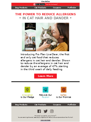 Purina - Introducing the first allergen-reducing cat food