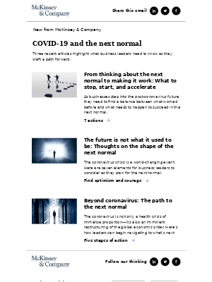 COVID-19 and the next normal