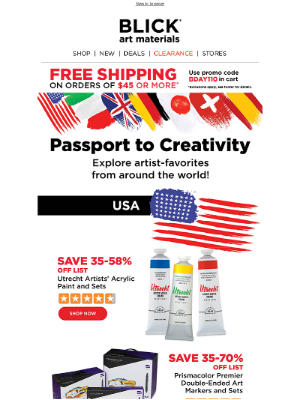 Blick Art Materials - Save on faves from around the world 🌎