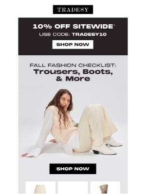 Tradesy - The ultimate fall fashion checklist