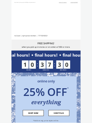 Maurices - FINAL HOURS: 25% off sitewide ⏳