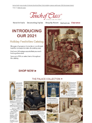 Touch of Class - It's here!  Be the first to shop our 2021 Holiday Festivities Catalog online today!