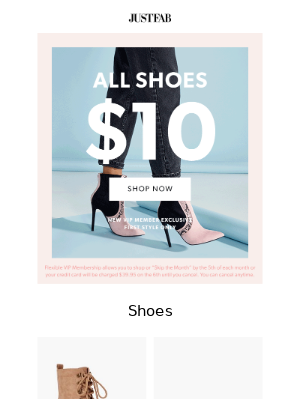 JustFab - We Put This Deal In Your Account, Don't Lose It!