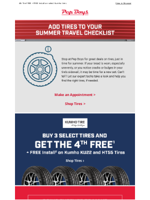 Pep Boys - When was the last time you checked your tires?