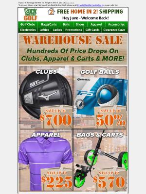 Rock Bottom Golf - 🚚📦 WAREHOUSE SALE: Clubs, Balls, Apparel & MORE!
