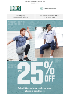 Up to 25% Off❗ Save on Your Favorite Apparel Brands