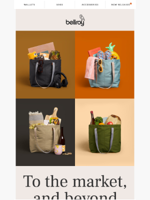 Bellroy - Introducing… the Market Tote!