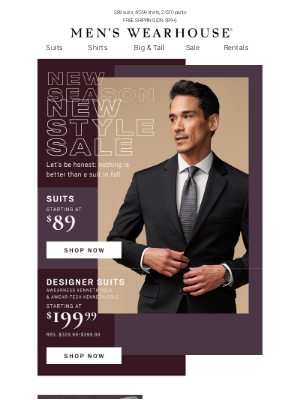 Men's Wearhouse - New Season, New Style SALE starts today