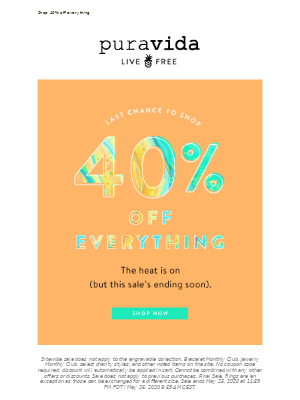 Last chance for 40% off!