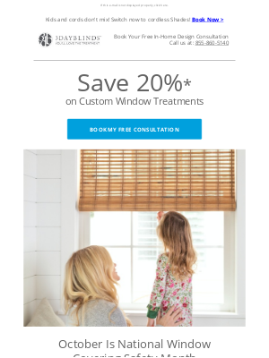 3 Day Blinds - Keep Kids Safe With Cordless Window Treatments