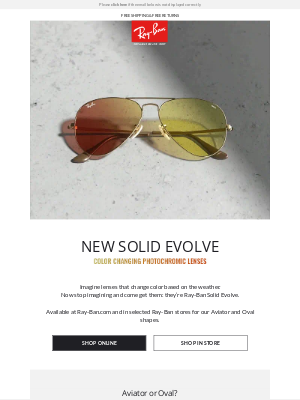 Ray-Ban - New Solid Evolve Lenses // The color-changing revolution is here