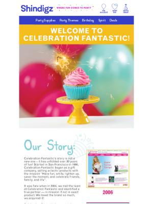Shindigz - Introducing Celebration Fantastic! 🧁